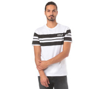Classic Stripe Wide - T-Shirt - Weiß