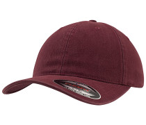 Garment Washed Cotton Dad Cap - Rot