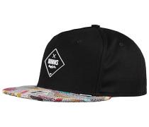 5P SB Rubber Aztek Snapback Cap - Schwarz