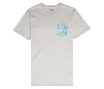 All Day Printed Crew - T-Shirt - Grau
