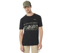 Pc-Temples Stripe - T-Shirt - Schwarz