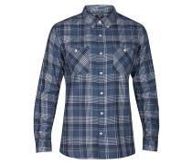 Aaron Flannel L/S - Hemd - Blau