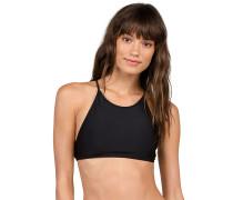 Simply Solid Crop - Bikini Oberteil - Schwarz