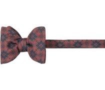Krawatte Schleife, Seide, marineblau-braun