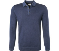 Pullover Troyer, Body Fit, Schurwolle