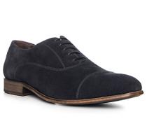 Schuhe Oxford, Veloursleder, dunkelblau
