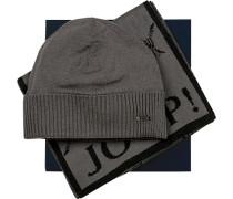Mütze+Schal in Geschenkbox, Schurwolle