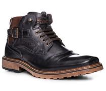 Schuhe Stiefeletten, Leder, dunkelblau