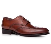 Schuhe Budapester, Kalbleder, rotbraun