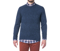 Pullover, Wolle, navy meliert