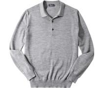 Polo-Shirt Polo, Merinowolle, hellgrau