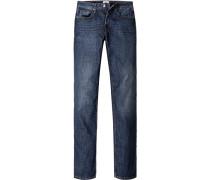 Jeans, Regular Fit, Baumwolle, jeansblau
