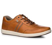 Schuhe Sneaker, Leder, cognac