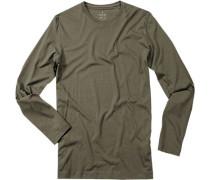 T-Shirt, Pima-Baumwolle, dunkelgrau