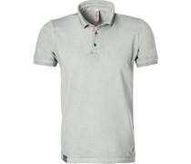 Polo-Shirt Polo, Baumwoll-Piqué, hellgrau