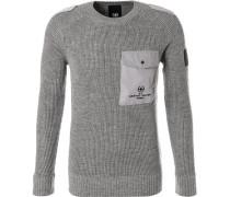 Pullover, Regular Fit, Schurwolle, hellgrau