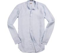 Hemd, Regular Fit, Leinen, hellblau meliert