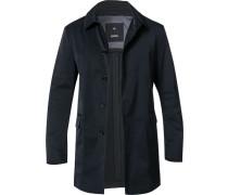 Mantel Anorak, Baumwolle, nachtblau