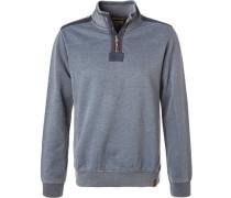 Sweater, Baumwolle, jeansblau