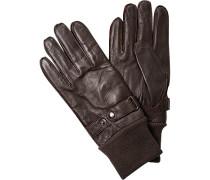 Handschuhe, Leder, kaffeebraun