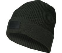 Mütze, Wolle, dunkelgrün
