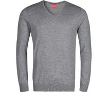 Pullover, Casual Body Fit, Merinowolle-Seide