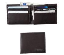 Karten-Scheinbörse, Kalbleder, dunkelbraun