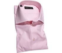 Hemd, Slim Fit, Popeline, rosé