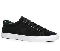 Schuhe Sneaker, Veloursleder, dunkelgrün