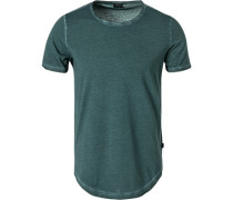 T-Shirt, Baumwolle, petrol meliert