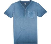 T-Shirt, Body Fit, Baumwolle, marine
