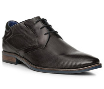 Schuhe Derby, Leder, dunkelgrau