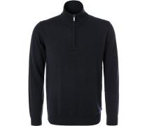 Pullover Troyer, Merinowolle, dunkelblau