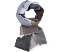 Schal, Wolle, grau-taubenblau gemustert