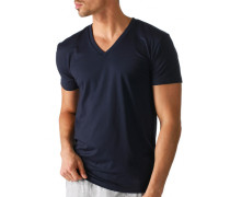 T-Shirt, Baumwoll-Stretch, dunkelblau