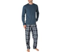 Pyjama Herren, Jersey-Baumwolle