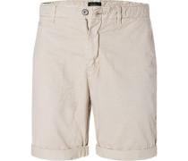 Hose Shorts, Baumwolle, hellbeige