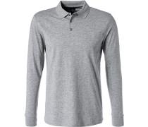 Polo-Shirt Polo, Baumwoll-Jersey, hellgrau