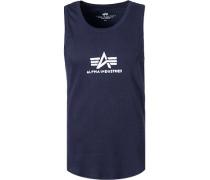 T-Shirt Tanktop, Baumwolle, navy