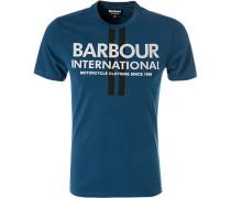 T-Shirt, Slim Fit, Baumwolle, petrol