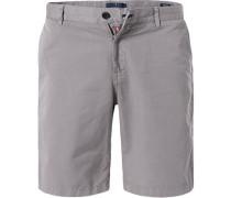 Hose Shorts, Modern Fit, Leinen