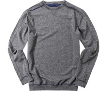 Sweatshirt, Baumwolle, hellgrau meliert