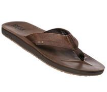 Schuhe Zehensandalen, Leder, dunkelbraun