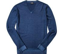 Pullover, Schurwolle, marineblau