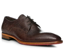 Schuhe Derby, Leder, marrone
