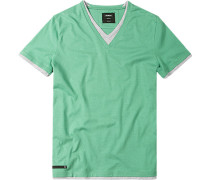 T-Shirt, Baumwoll- Jersey, Hellgrün