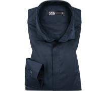 Hemd, Modern Fit, Twill, nachtblau