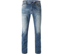 Jeans, Baumwoll-Stretch, jeansblau