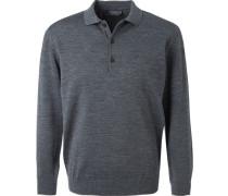 Polo-Shirt Polo, Merinowolle, graphit