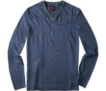 Pullover, Leinen, jeansblau